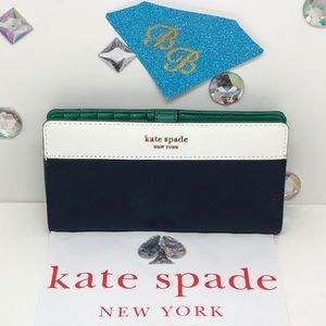 KATE♠️SPADE LARGE CAMERON SLIM BIFOLD WALLET